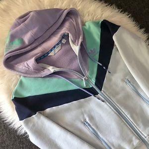 Women's Adidas Originals Logo Zip Up Hoodie - XS